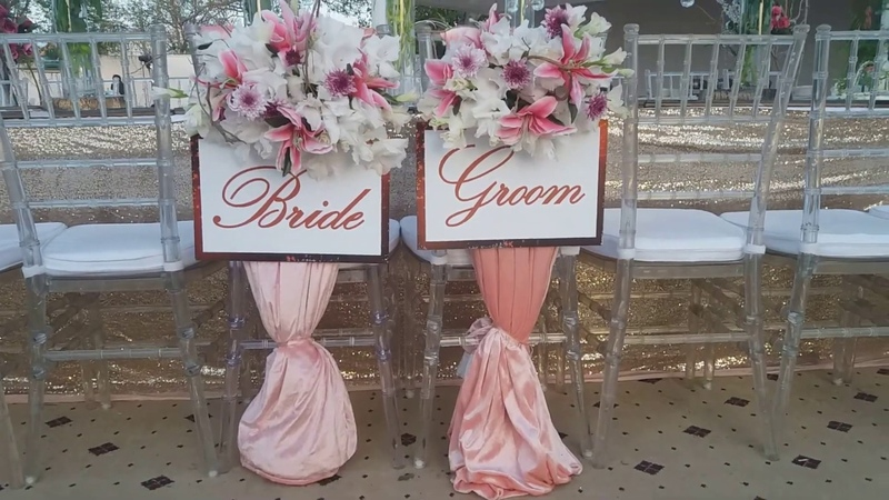 Home Town Decoration Idea for Wedding Reception by Sherrys Signature Events