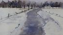 Winterlandschap in aquarel voor beginners