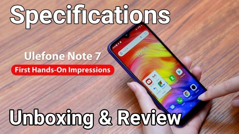 Ulefone Note 7 1GB RAM 16GB ROM 3,500mAh Unboxing Review Specifications First Look Price Buy