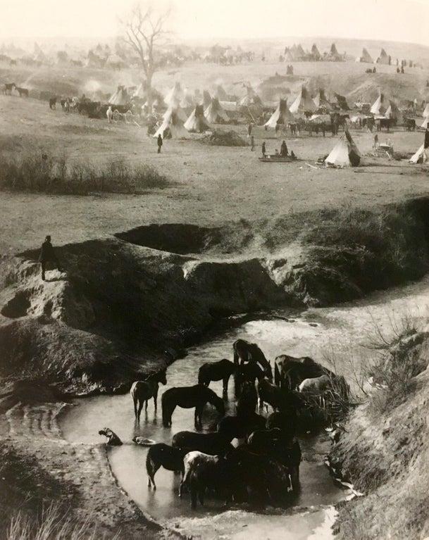 Вид на индейский лагерь Брюле-сиу, 1891 год.