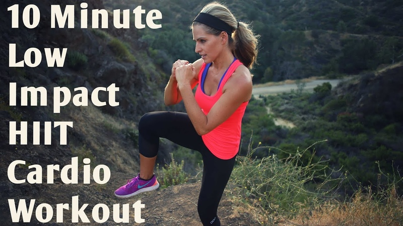 10 Minute Low Impact Cardio HIIT Workout--Quiet Workout with High Intensity Intervals