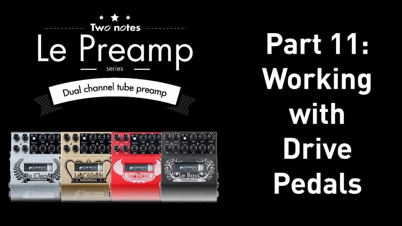 How to use a preamp pedal with other drive pedals.