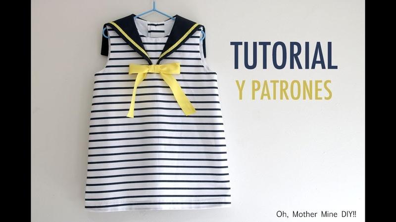 Patrones vestido marinero para niñas (gratis hasta talla 7 años)