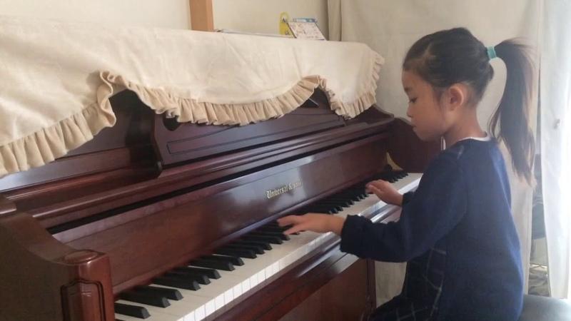 ピアノコンクール 1週間前 通し練習 早紀7歳