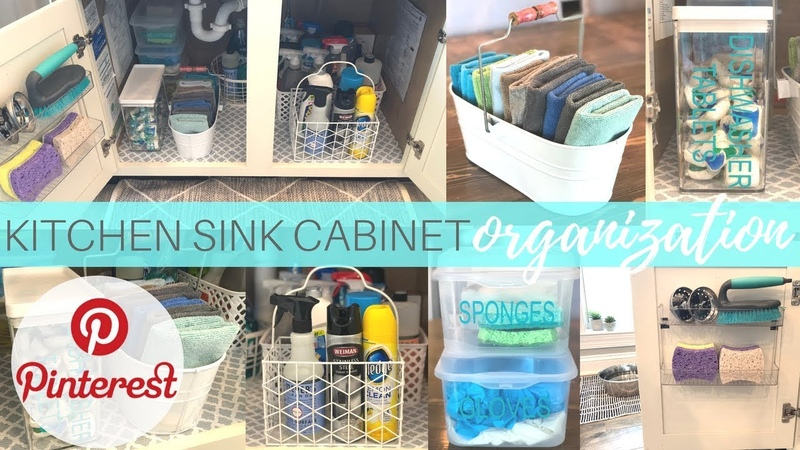 Under the Kitchen Sink Cabinet Organization   How to Organize   Decluttering   Clean With me