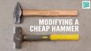 Blacksmith Cross Pein Hammer from a Cheap Modified Sledge