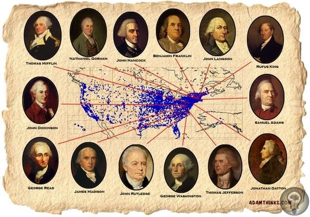 ОТЦЫ - ОСНОВАТЕЛИ США. 15 сентября 1776 года английские войска оккупировали Нью-Йорк, и Джордж Вашингтон едва не попал в руки неприятеля. После окончания войны американский командующий удалился