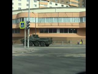 БТР на улицах Калининграда.