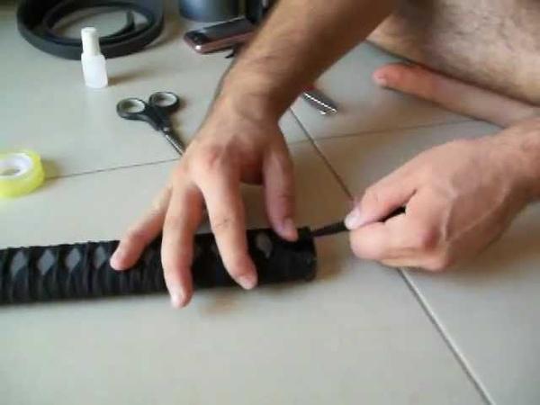 How to make a katana como hacer una katana for cosplay or softcombat
