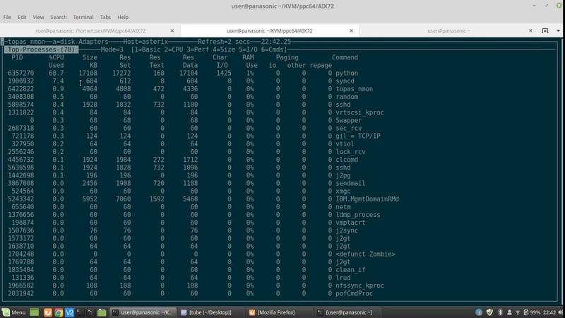 AIX 7.2 on x86_64 Linux via qemu