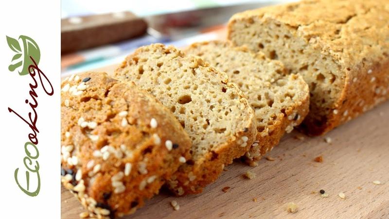 Хлеб из зеленой гречки без глютена без муки без дрожжей ПП