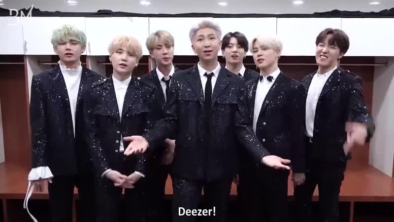 """RUS SUB 12 04 19 Видео послание для Deezer к релизу альбома MAP OF THE SOUL PERSONA"""""""