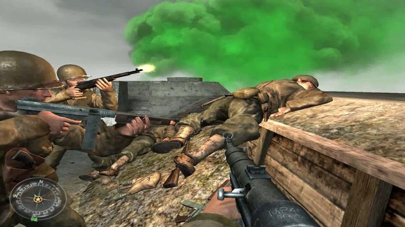 Прохождение Call of Duty 2 - 10 Защищаем Пуэнт-Дю-Хок