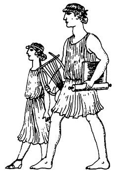 Слово «педагог» родом из Древней Греции и означает дословно «ведущий ребёнка»