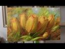 Жёлтые тюльпаны. Yellow tulips. Etude. Как нарисовать тюльпаны. How to draw tulips