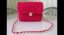 Вяжем стильную сумочку из трикотажной пряжи.Кnit stylish handbag. (English subtitles)