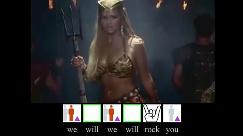 We will rock you Queen lyrics Subtitles UPL [HD] Britney Spears, Beyonce Pink