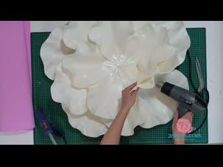 Настенный цветок из изолона | бесплатный мк