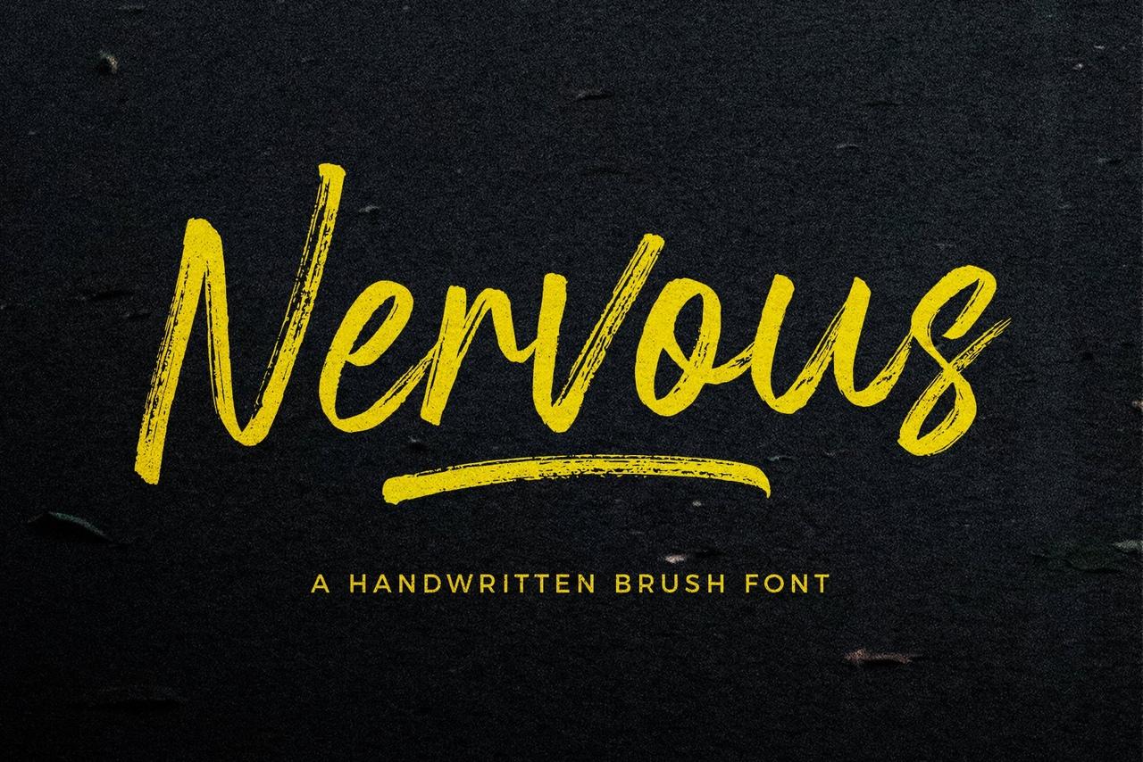 Шрифт - Nervous