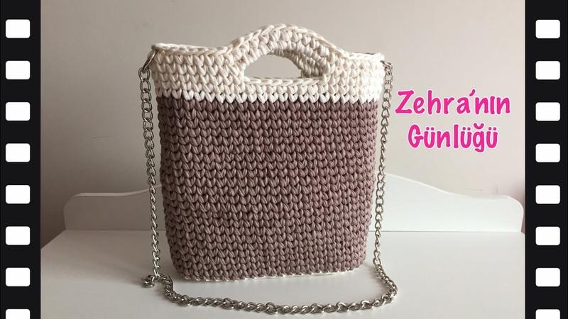 Penye ipten kullanışlı kolay çanta yapımı