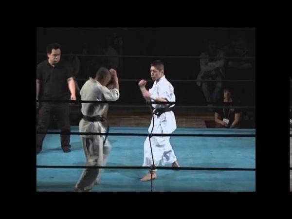 Facial attack with bare hands OK ! PRO-KARATEDO TATUJIN! RISHINJUKU-KARATE