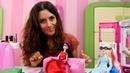 Schönheitssalon mit Ladybug Super Girl und Harley Quinn Spielzeugvideo für Kinder
