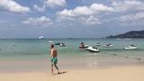 Пляж Патонг бич (Patong beach Phuket), остров Пхукет. Море, солнце, песок, развлечения. Январь 2019