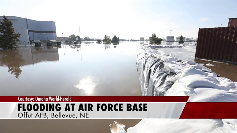 60 structures flood at Offutt Air Force Base
