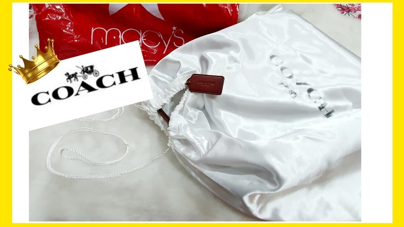 MY COACH HANDBAG Unboxing from Macys - Luxury Bag