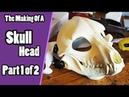 The Making Of A Skull Head 1 Preparing Adding Foam - Skull Demon Fursuit Tutorial