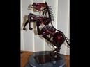 Scrap Metal, Recycled metal horse Sculpture, Welding Art