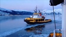 Crowley Tug Alert breaking ice in Prince William Sound