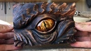 Smaugs Eye wood carving art project   A tribute to J.R.R Tolkien by Jonasolsenwoodcraft