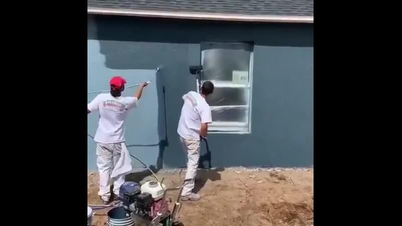 Как ВОТ КАК Как можно красить дом в один цвет