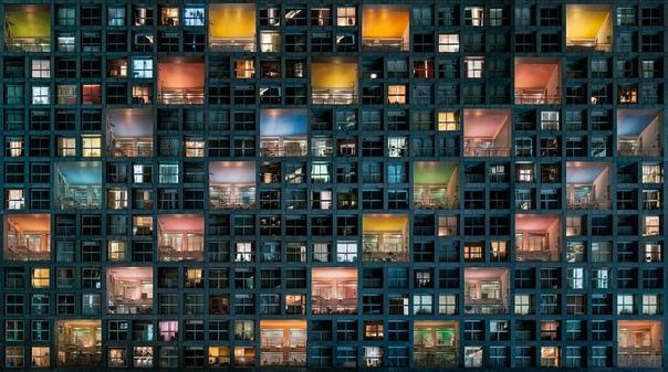 Жизнь в многоэтажке. Фото: Daniel Bonte