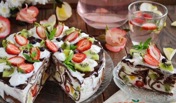 Безумно вкусный блинный тортик