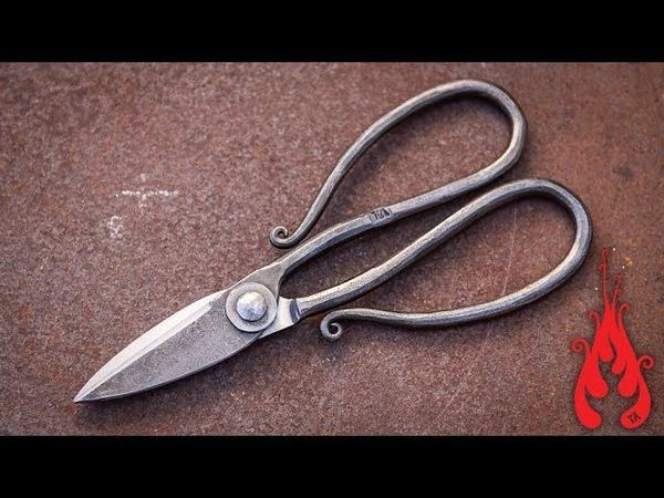 Blacksmithing - Making a pair of scissors
