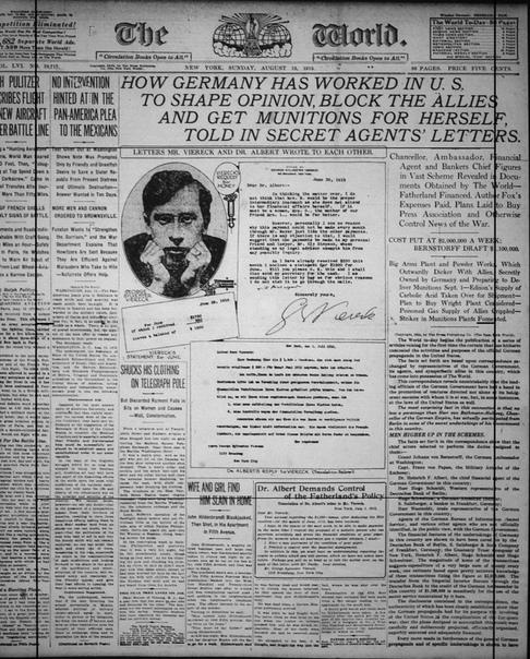 ВЕЛИКИЙ ФЕНОЛОВЫЙ ЗАГОВОР 1915 ГОДА. КАК АМЕРИКАНЦЫ ПРЕДАВАЛИ СОЮЗНИКОВ