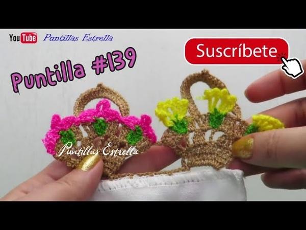 Puntilla 139 Canastitas con flores