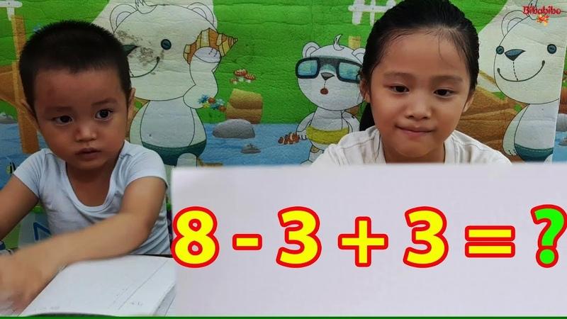 Bài kiểm tra toán của Gia Linh và em Cò