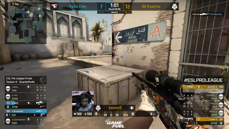 KennyS insane double to steal the round (Dust2)