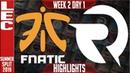 FNC vs OG Highlights | LEC Mùa hè 2019 | Fnatic vs OrigenLEC Summer 2019 Week 2 Day 1