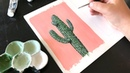 Painting Saguaro Cactus with Gouache by Philip Boelter