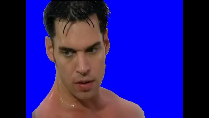 Gachimuchi Wet Mark Wolf on a blue screen Мокрый Марк Вульф на синем экране