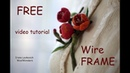 Cherry blossom Brooch WireFrame Tutorial