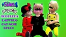 The Sims 4 Babies Miraculous Ladybug,Cat Noir and Chloe First Adventure