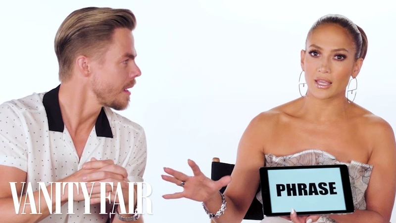 Jennifer Lopez Teaches You Dance Slang with Derek Hough and Ne-Yo | Vanity Fair