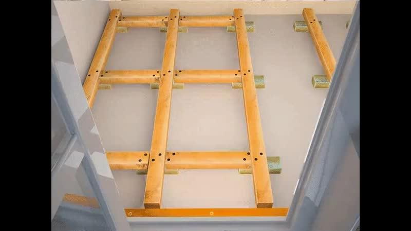 Укладка пола на балконе