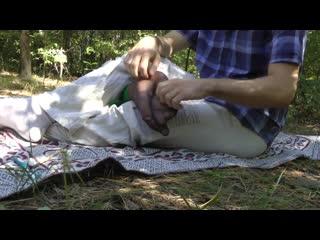 Tickle torture (feet in nylon)
