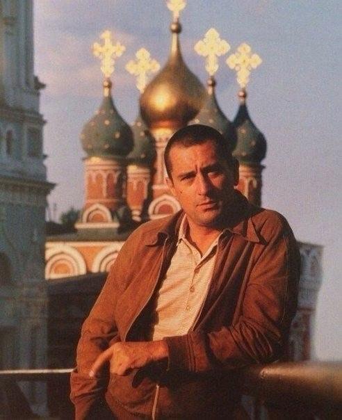 Роберт Де Ниро в Москве, 1987 год.